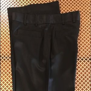 CHANEL Laine Wool Pants size 40 Black Near Perfect